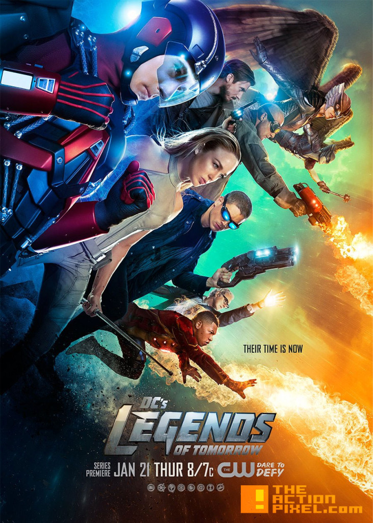 legends of tomorrow Poster. dc comics. the cw network. the action pixel. @theactionpixel