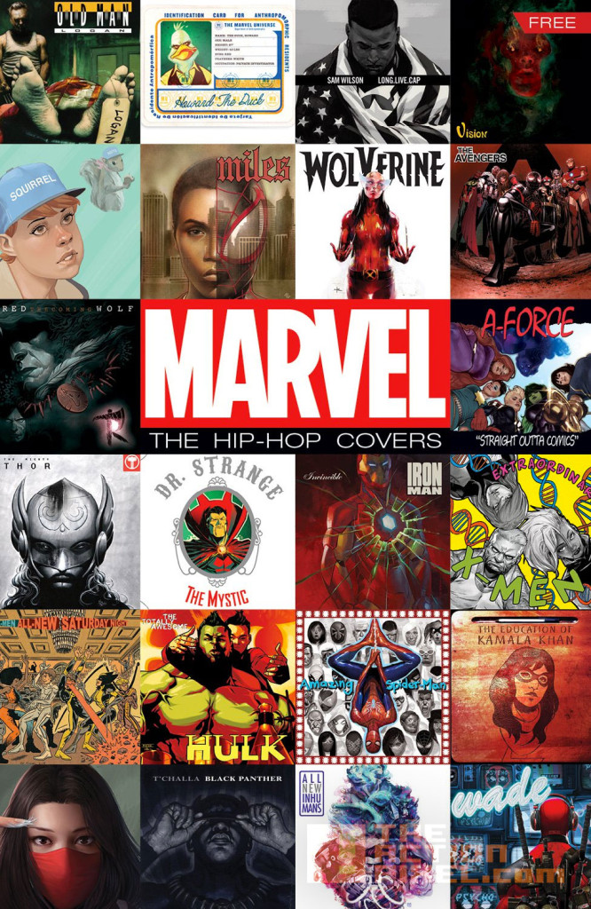 marvel hip-hop covers. variants sampler. the action pixel. @theactionpixel