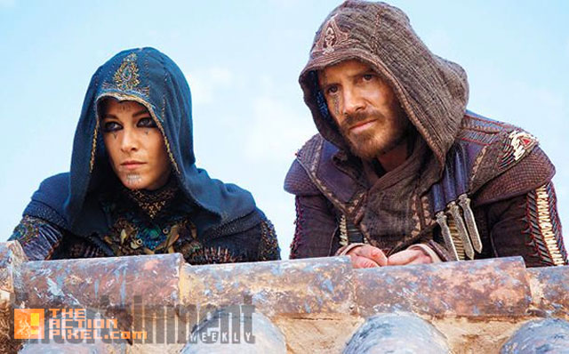 Michael Fassbender and Ariane Labed . assassin's creed. the action pixel. @theactionpixel. #entertainmentontap. 20th century fox.  ubisoft. the action pixel. callum lynch. @theactionpixel