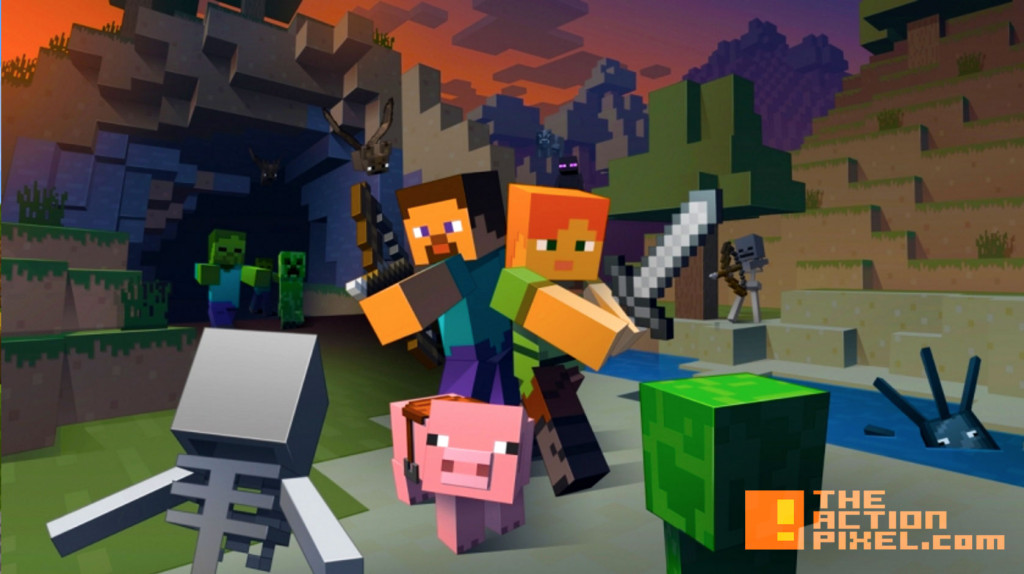 mincraft. mojang. wii u. nintendo. the action pixel. @theactionpixel