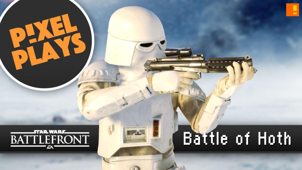 pixel plays. Star Wars Battlefront: battle of hoth. ea. dice games. the action pixel. @theactionpixel