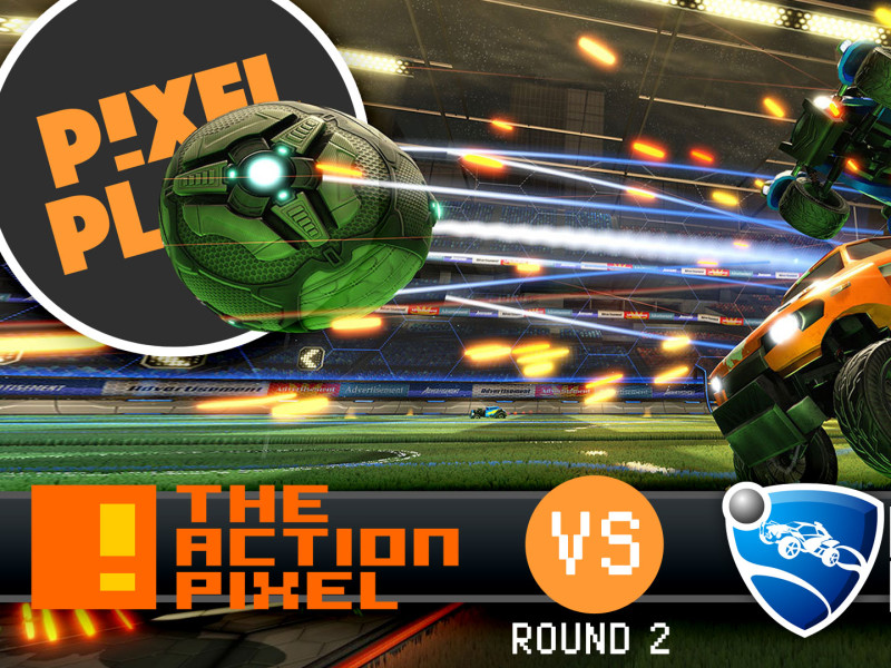 pixel plays. tap takes on rocket league all star bots round 2. the action pixel. @theactionpixel