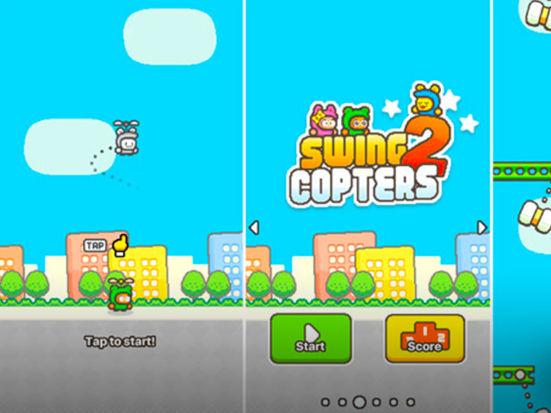 swing copters 2. the action pixel. @theactionpixel.