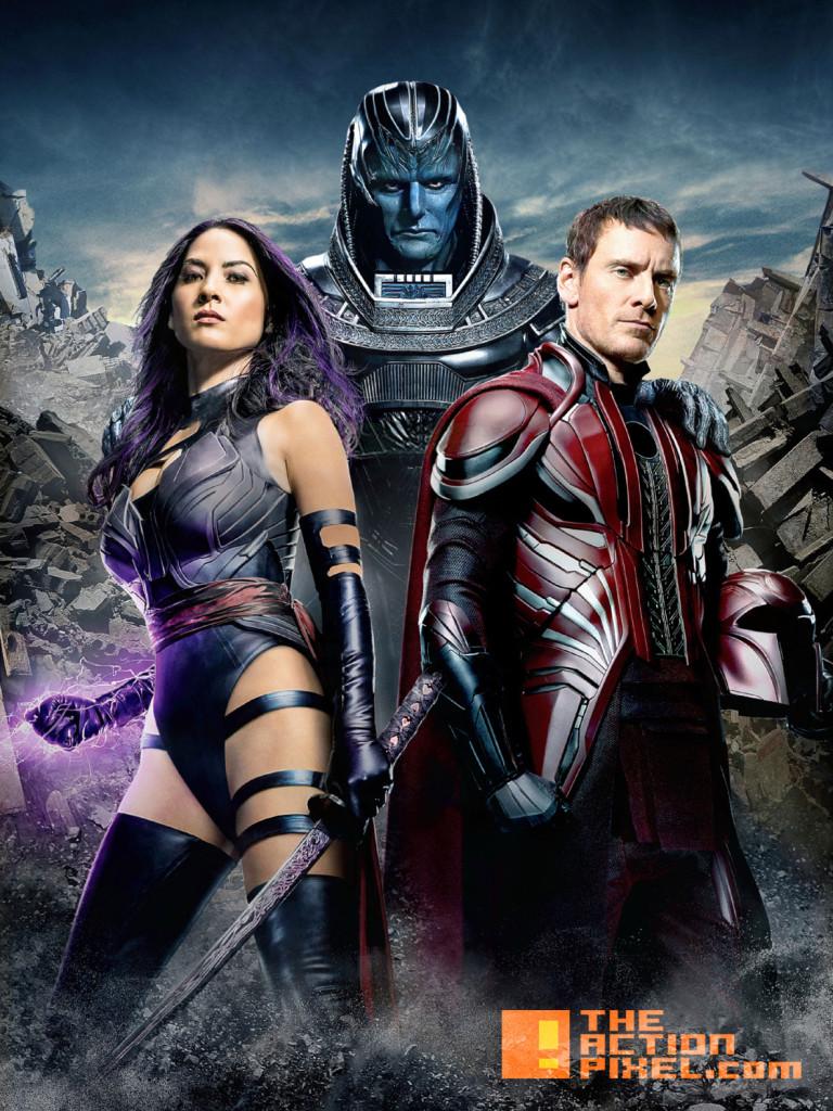 xmen apocalypse. magneto. psylocke. the action pixel. entertainment on tap