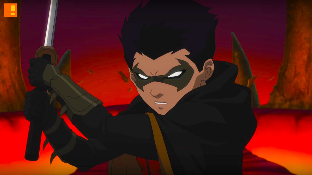 damian Justice League Vs Teen Titans. wb animation. dc comics. the action pixel. @theactionpixel