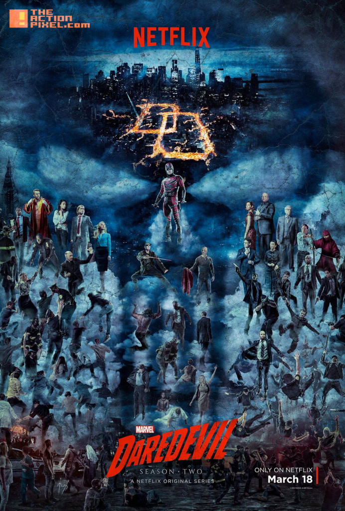 daredevil S2 poster. netflix. marvel. daredevil. the action pixel. entertainment on tap. @theactionpixel