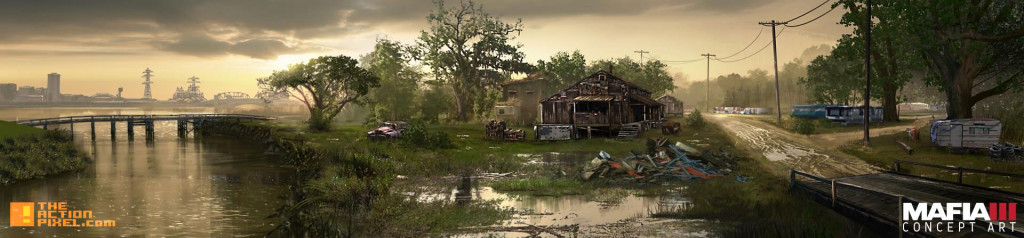 mafia 3 concept art bayou. the action pixel. @theactionpixel. 2k