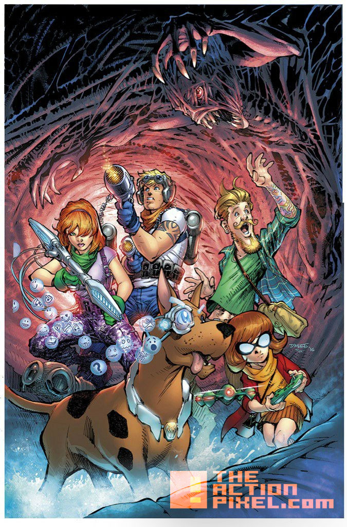 Scooby Apocalypse art by Jim Lee. dc comics. hanna barbara. the action pixel. @theactionpixel
