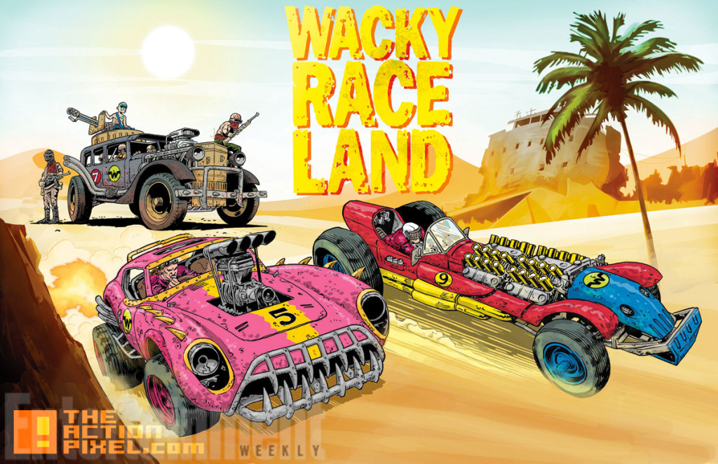 Wacky Race Land art by Mark Sexton dc comics. hanna barbara. the action pixel. @theactionpixel