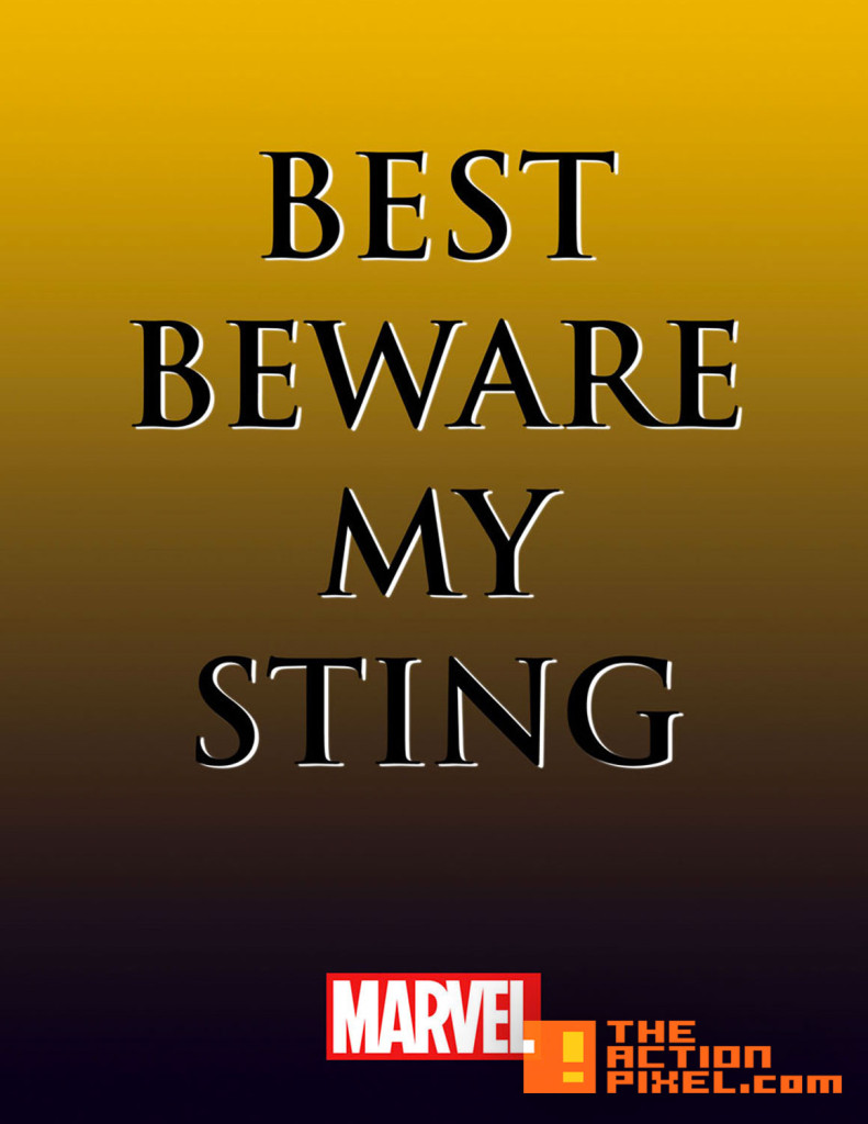the wasp. teaser. best beware my sting. marvel.