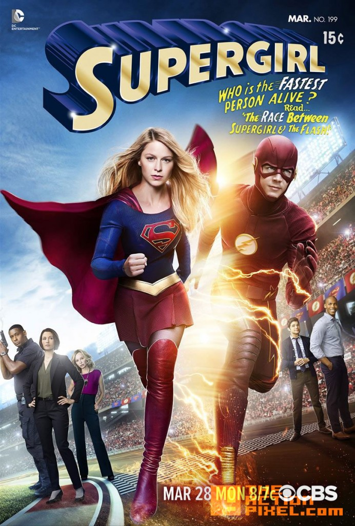 the flash Supergirl crossover. the action pixel. @theactionpixel. the cw network. cbs.