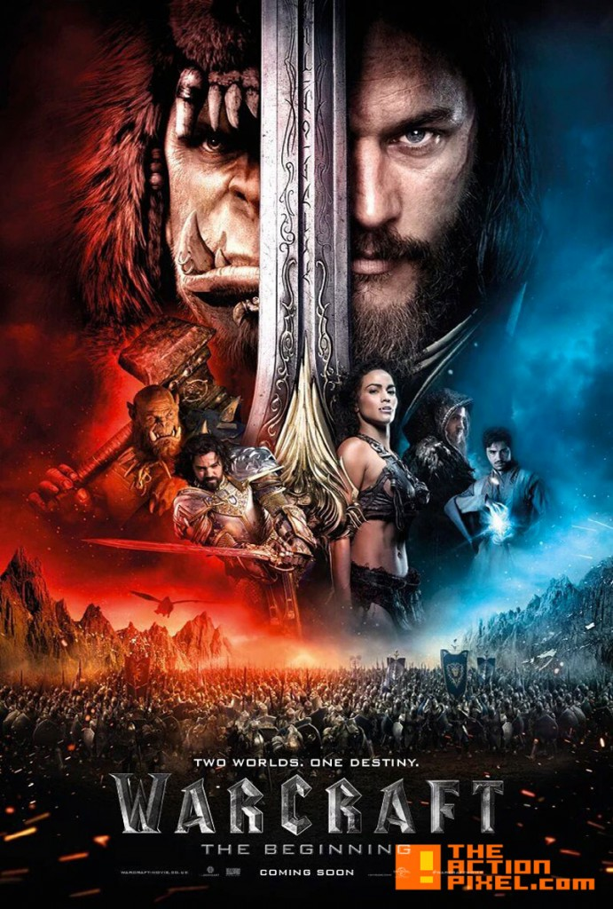 warcraft the beginning. poster. the action pixel. Legendary, world of warcraft. blizzard entertainment. the action pixel. @theactionpixel