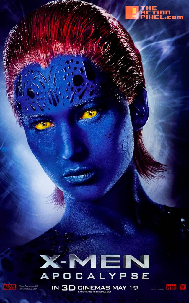 xmen apocalypse, 20th century fox, marvel, the action pixel, mystique, entertainment on tap,