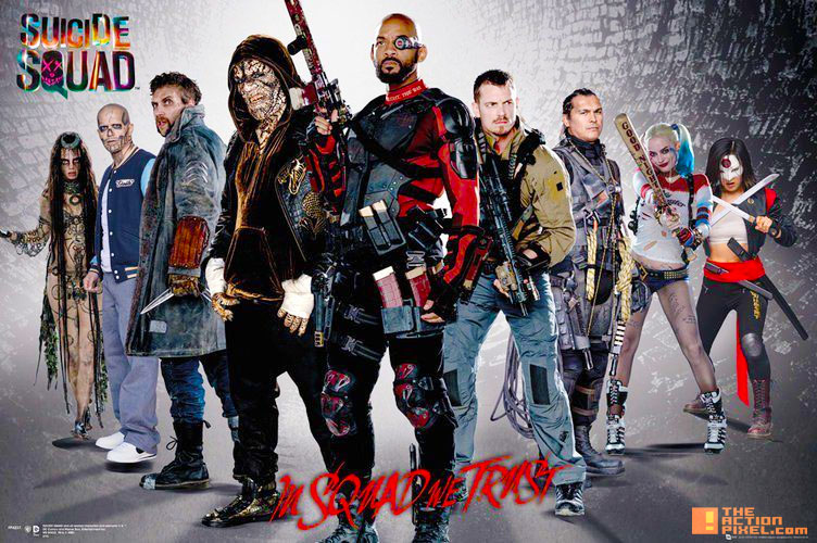 poster, suicide squad,joker, harley quinn, margot robbie, will smith, jared leto, dc comics, warner bros. pictures, poster, poster art, entertainment on tap, the action pixel