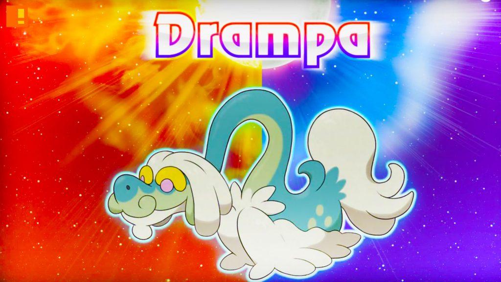 drampa, pokemon, pokemon sun and moon, Pokémon Sun ,Pokémon Moon , starter pokémon, nintendo, nintendo 3ds, entertainment on tap, trailer, starter pack, trailer