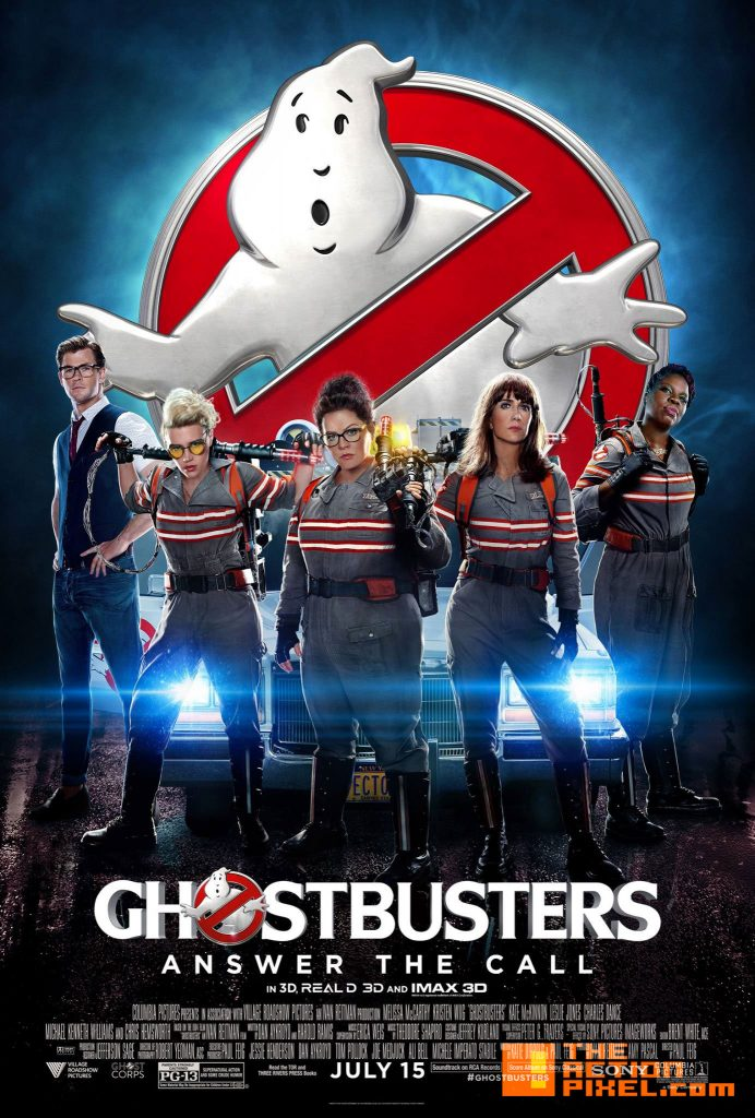 ghostbusters,  sony, the action pixel,@theactionpixel, Melissa McCarthy, Kristen Wiig, Kate McKinnon, Leslie Jones, Chris Hemsworth,poster