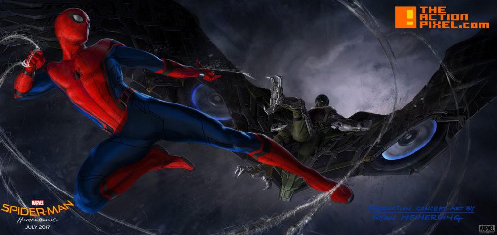 spider-man, vulture , concept art, the action pixel, marvel, marvel studios, vulture, sony