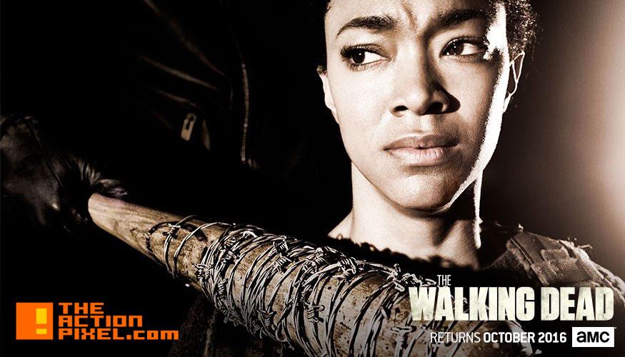 the walking dead, season 7, negan, lucille, key art, image, entertainment on tap, skybound, the action pixel, rick grimes, michonne, daryl, image comics, jeffrey dean morgan