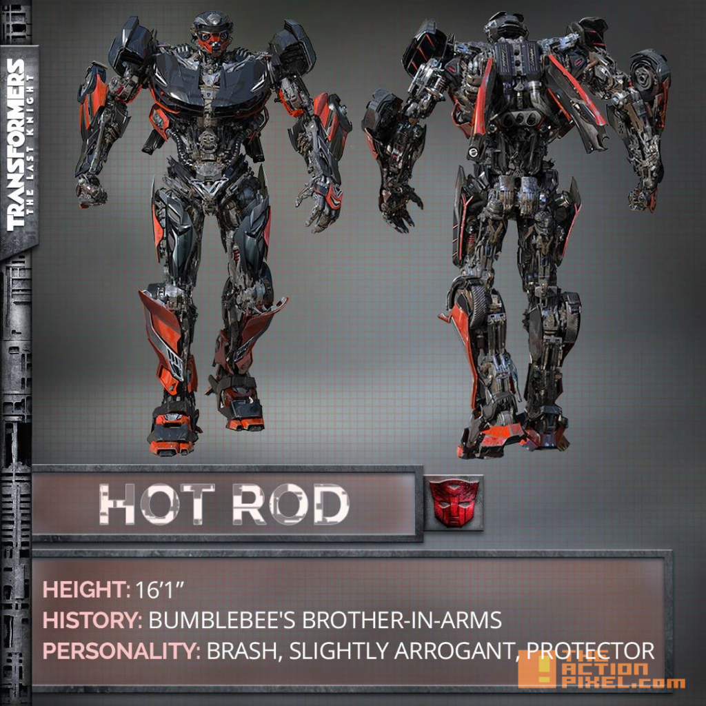 hot rod ,transformers,transformers, The last knight, entertainment on tap, the action pixel