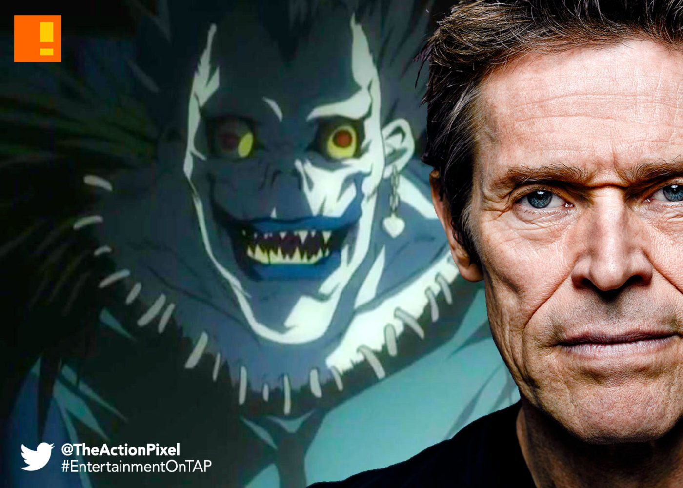 ryuk, death note, willem dafoe, entertainment on tap, the action pixel,