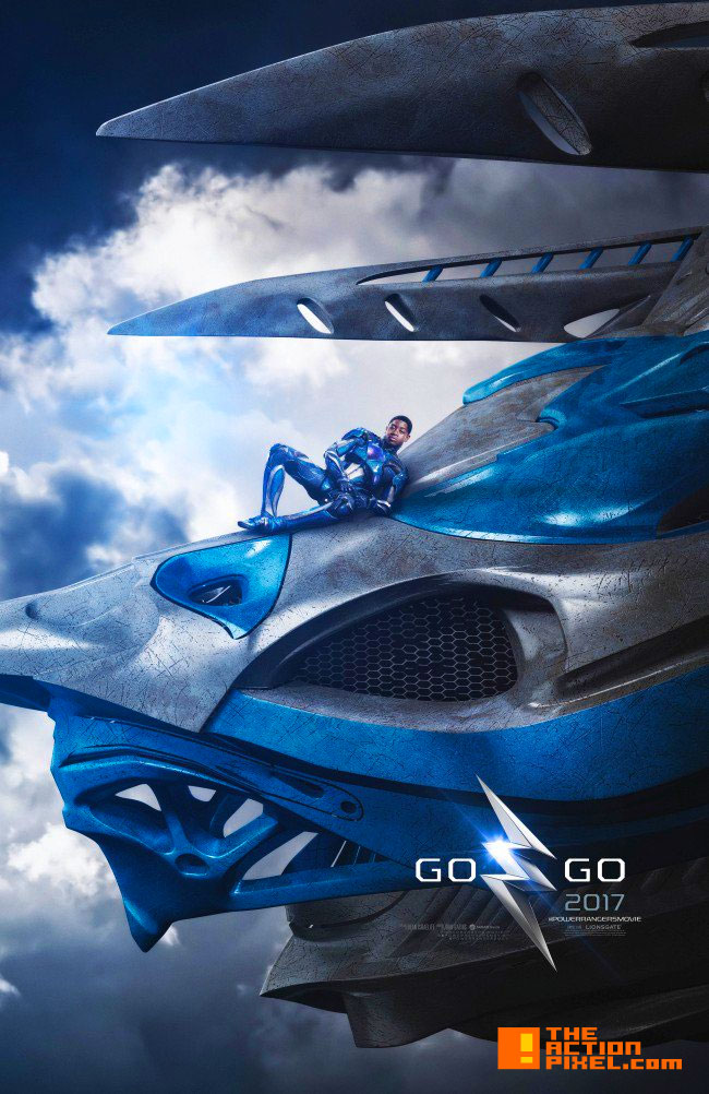 power rangers, saban, lionsgate, the action pixel, entertainment on tap, blue power ranger, zord, trini