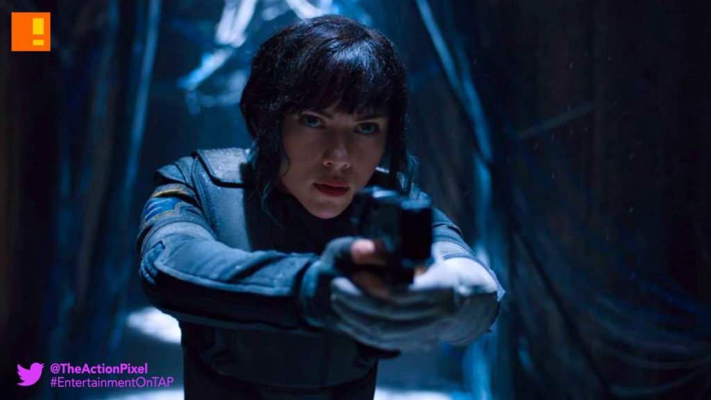 scarlet johansson, gits, ghost in the shell, teaser , trailer, scar jo,