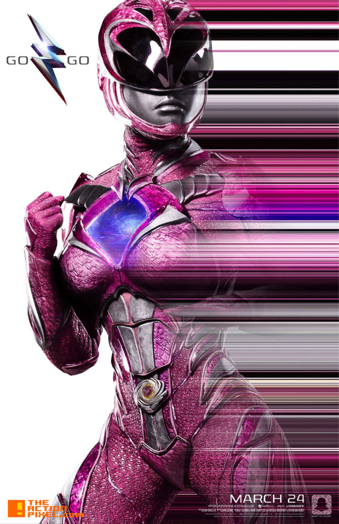 power rangers, saban, lionsgate, the action pixel, entertainment on tap, pink, power ranger, zord, trini