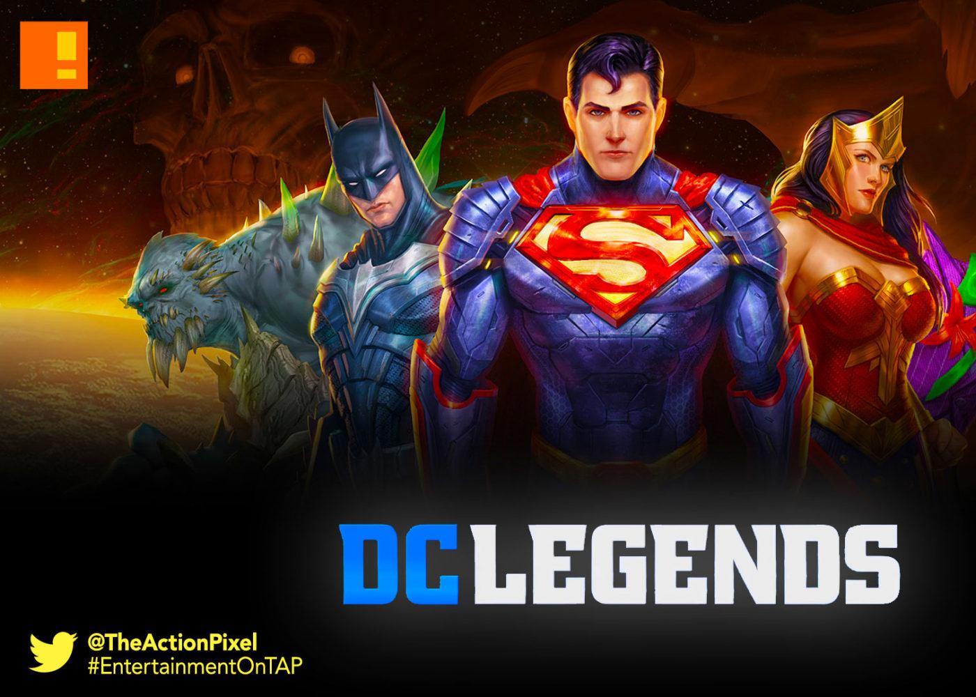 DC LEGENDS, dc comics, android, mobile, the action pixel, entertainment on tap, wonder woman, superman, batman,