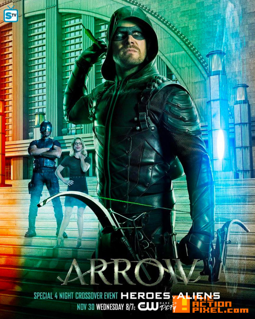 cw network, dc comics, supergirl, the flash, arrow, legends of tomorrow, entertainment on tap, the action pixel, poster