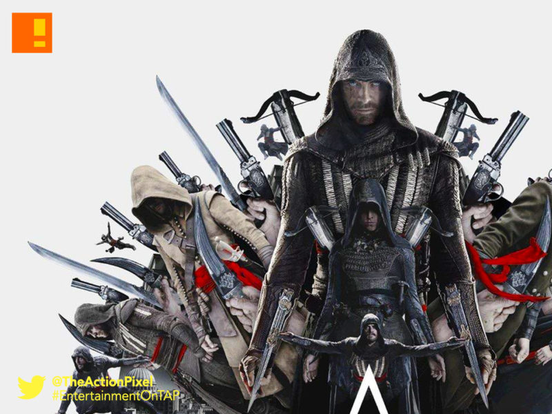 assassins creed, poster , assassin's creed, ubisoft, the action pixel, entertainment on tap, assassins creed, callum lynch,michael fassbender, ac, ubisoft, preview, images,stills,exclusive, the action pixel, entertainment on tap,video game movie, stills,