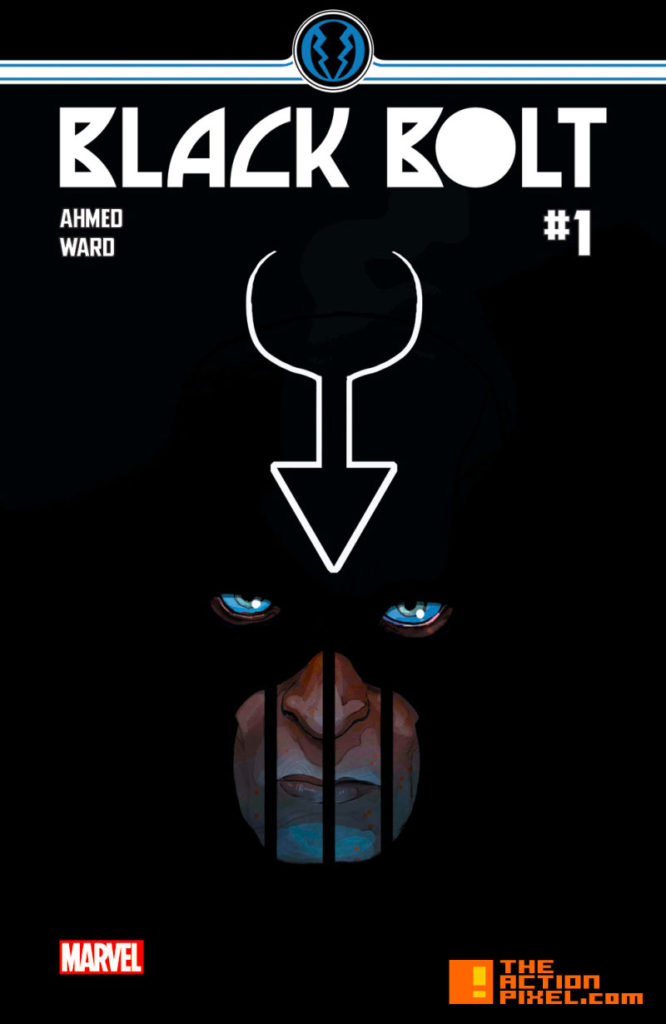 black bolt, inhumans, issue 1,cover art, marvel, marvel comics, comic art, black bolt, the inhumans, the action pixel, entertainment on tap