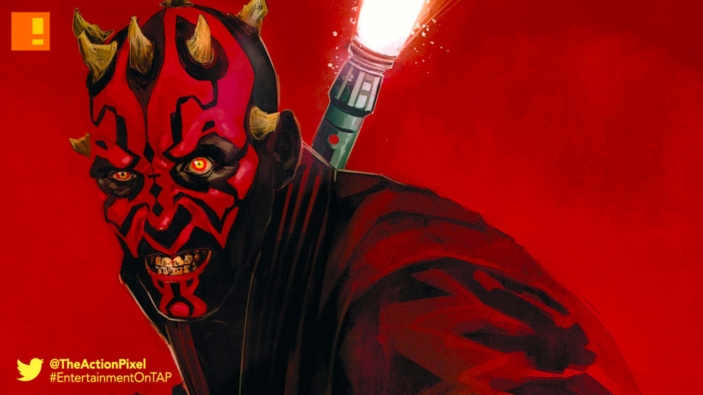 darth maul, star wars, lucasfilm, star wars comic, comics, marvel, the action pixel, entertainment on tap, darth sidious, lightsaber, dark side, force, disney, marvel comics, the action pixel, entertainment on tap