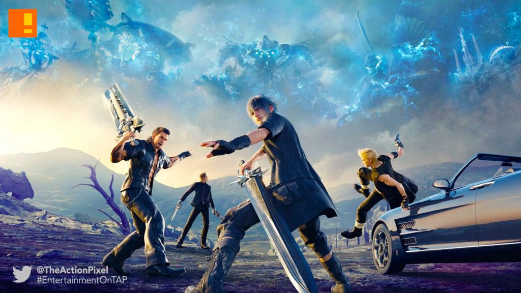 final fantasy xv, final fantasy, square enix, the action pixel, entertainment on tap, ride along,