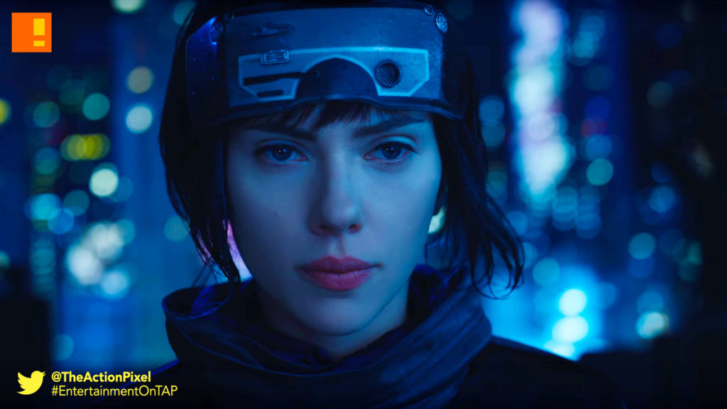 gits,trailer, major, trailer, ghost in the shell, paramount pictures, the action pixel, entertainment on tap