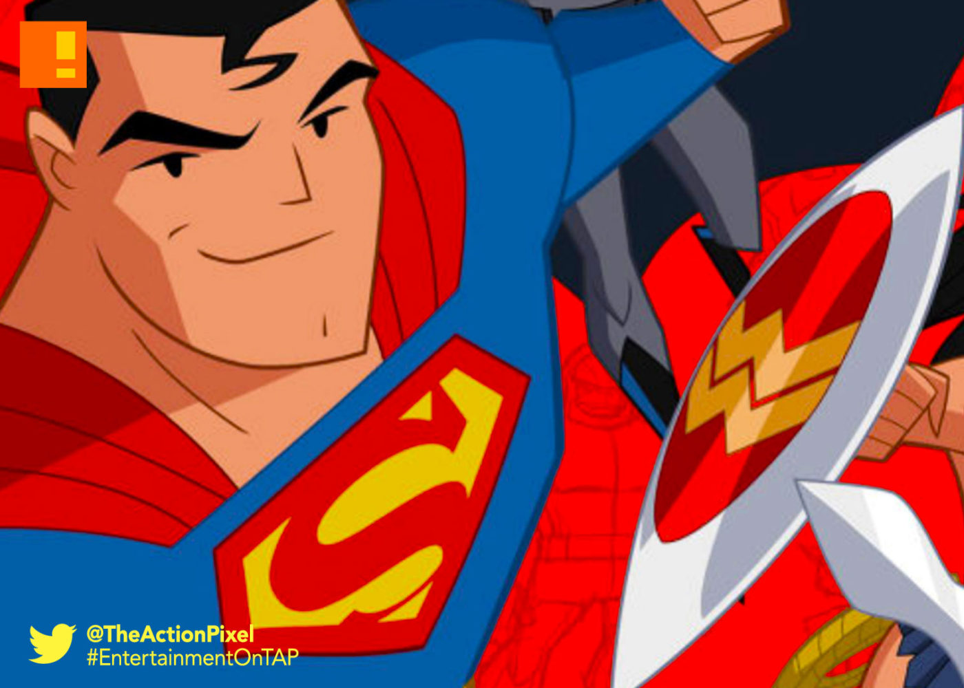 justice league action, justice league, warner bros. , wb animation, cartoon network, the action pixel, entertainment on tap, superman, batman, wonder woman, dc comics,