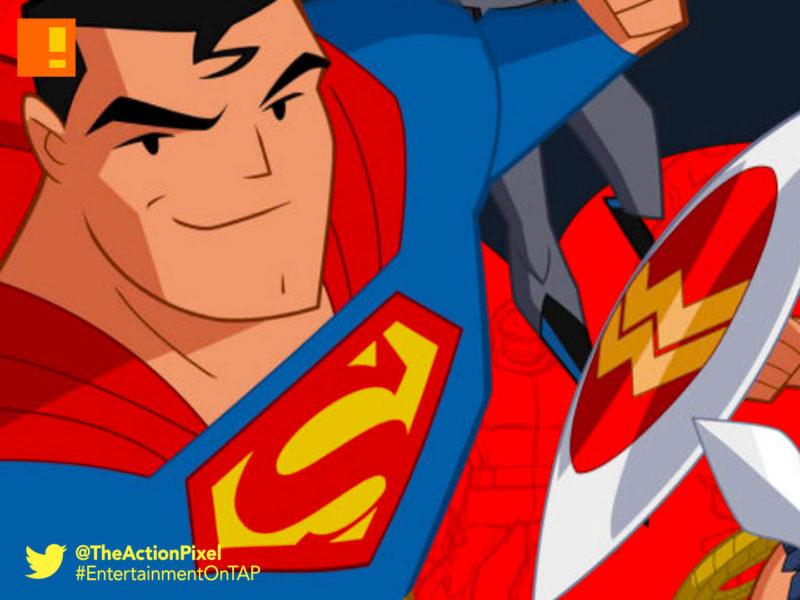 justice league action, justice league, warner bros. , wb animation, cartoon network, the action pixel, entertainment on tap, superman, batman, wonder woman, dc comics,