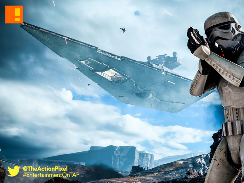 star wars battlefront, the action pixel, storm trooper, star wars, battlefront, electronic arts, ea, ea dice, dice games, the action pixel, entertainment on tap