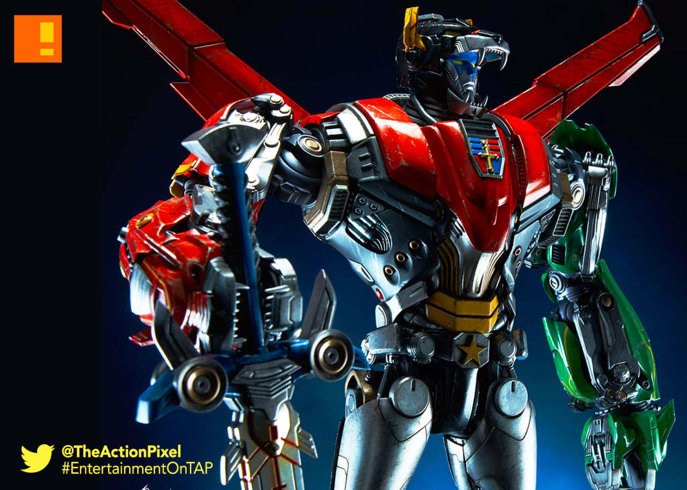 voltron, universal, the action pixel, dreamworks animation, entertainment on tap