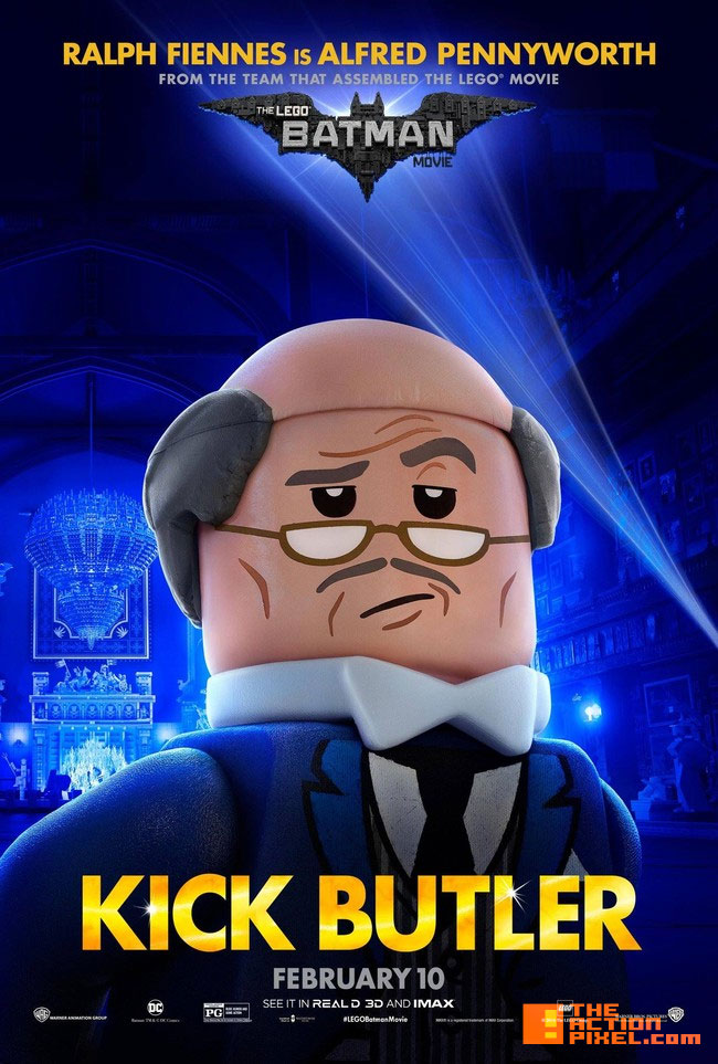 alfred, alfred pennyworth ,the lego batman movie, lego, warner animation group ,warner bros., wb , warner bros. entertainment, batman, dc comics, dc entertainment, poster ,