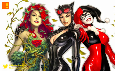 gotham city sirens,harley quinn,catwoman, poison Ivy,dc comics. the action pixel, @theactionpixel