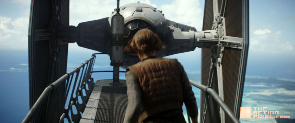 JYN erso, ROGUE one, jyn, jyn erso, disney, lucasfilm,entertainment on tap, the action pixel, tap reviews,  jyn erson,tie fighter