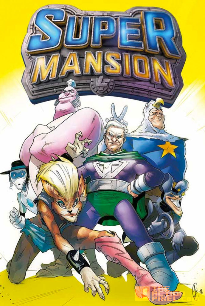 supermansion, COVER A, JAKE ELPHICK, crackle, the action pixel, entertainment on tap,