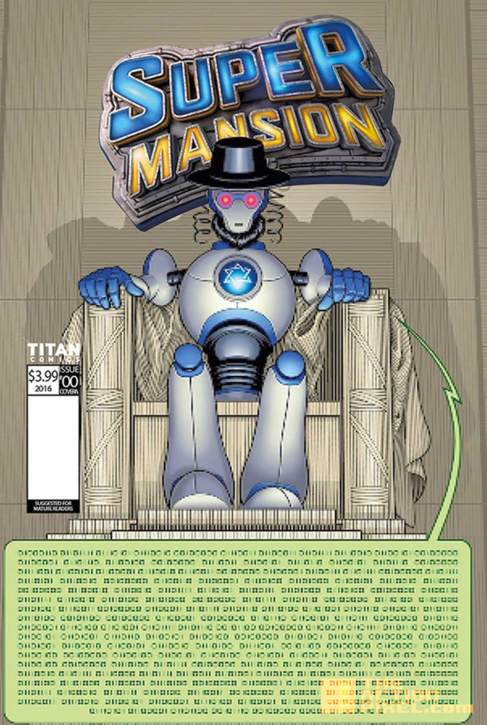 COVER C, JUAN N. CABAL, variant, supermansion, crackle, the action pixel, entertainment on tap,