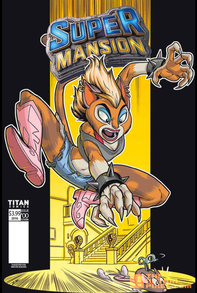 COVER E, ZAK SIMMONDS-HURN, supermansion, crackle, the action pixel, entertainment on tap, titan comics, preview,