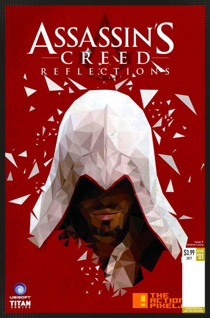 COVER F, POLYGON VARIANT, VALERIA FAVOCCIA, assassin's creed, assassin's creed reflections, reflections, titan comics, ubisoft, entertainment on tap, the action pixel