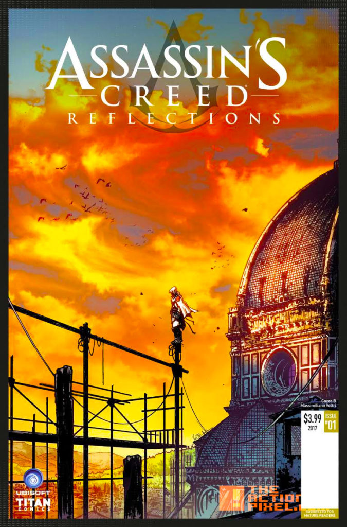 COVER B, MASSIMILIANO VELTRI,assassin's creed, assassin's creed reflections, reflections, titan comics, ubisoft, entertainment on tap, the action pixel
