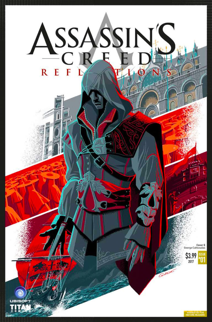 COVER E, GEORGES CALTSOUDAS ,assassin's creed, assassin's creed reflections, reflections, titan comics, ubisoft, entertainment on tap, the action pixel