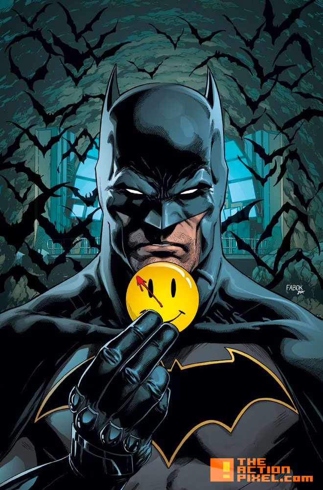 batman, the button, watchmen, dc comics, the action pixel, the flash, barry allen, bruce wayne, the dark knight , the scarlet speedster, detective, detective comics, the action pixel, entertainment on tap, dc comics, dc entertainment, rebirth, fabok,