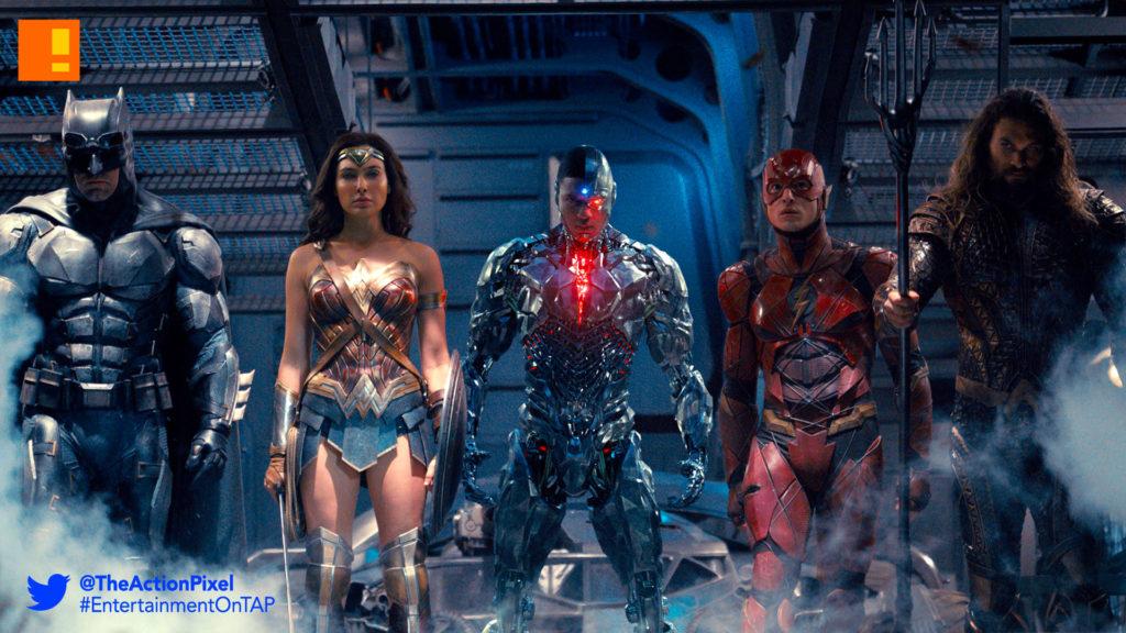 justice league, batman, wonder woman, the flash,the action pixel, entertainment on tap, warner bros. entertainment, wb pictures, dc entertainment , aquaman, cyborg, superman,