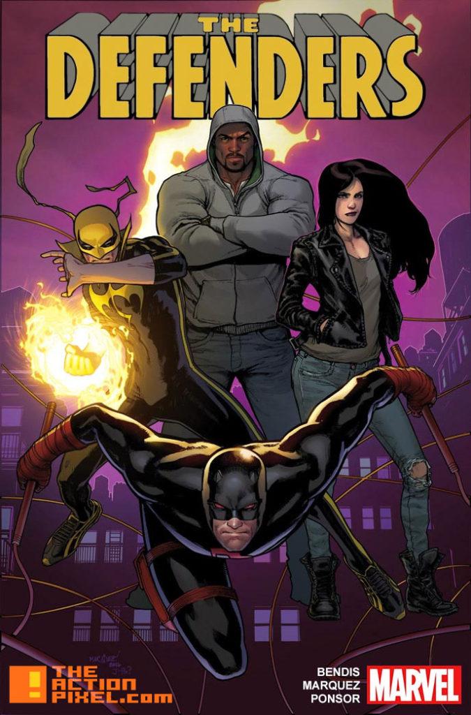 the defenders, BRIAN MICHAEL BENDIS, Justin Ponsor, David Marquez, marvel comics, netflix, entertainment on tap